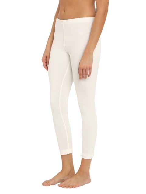 Jockey Womens Off White Thermal Leggings (S,Off White)