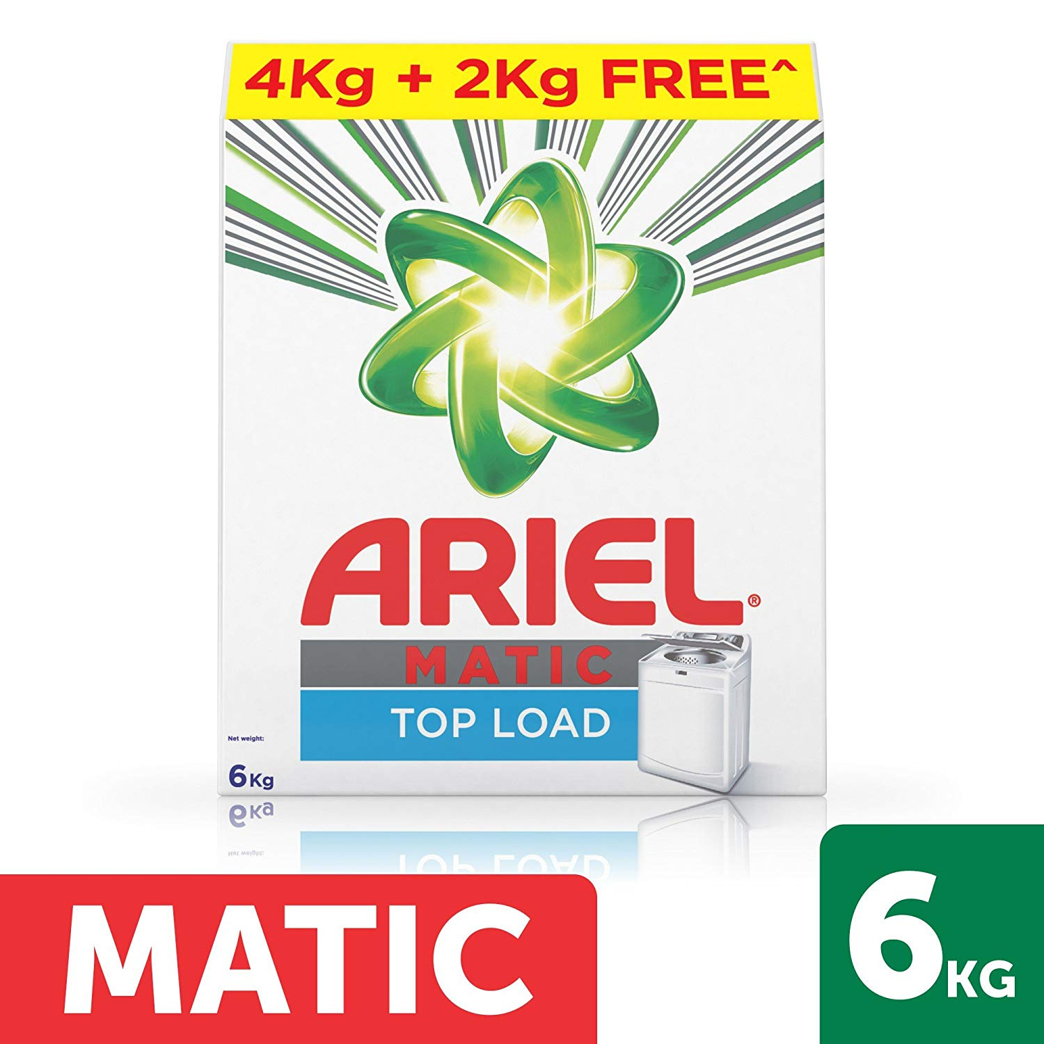 ARIEL MATIC TOP LOAD (6KG) CONTAINER 4 KG