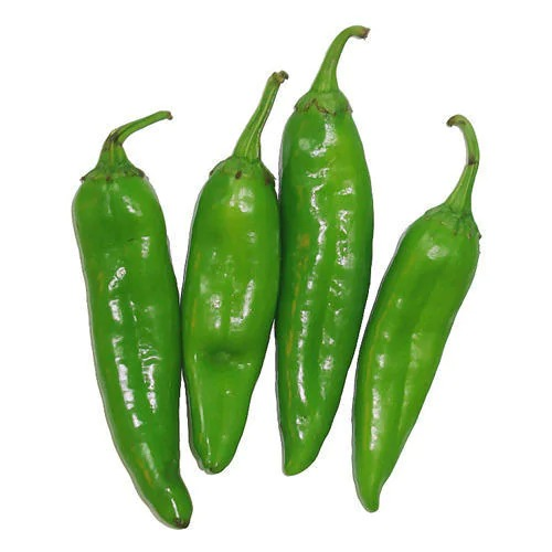 Fresh Green Big Pakora Chilli / Hirvi Mirchi (250 GM)