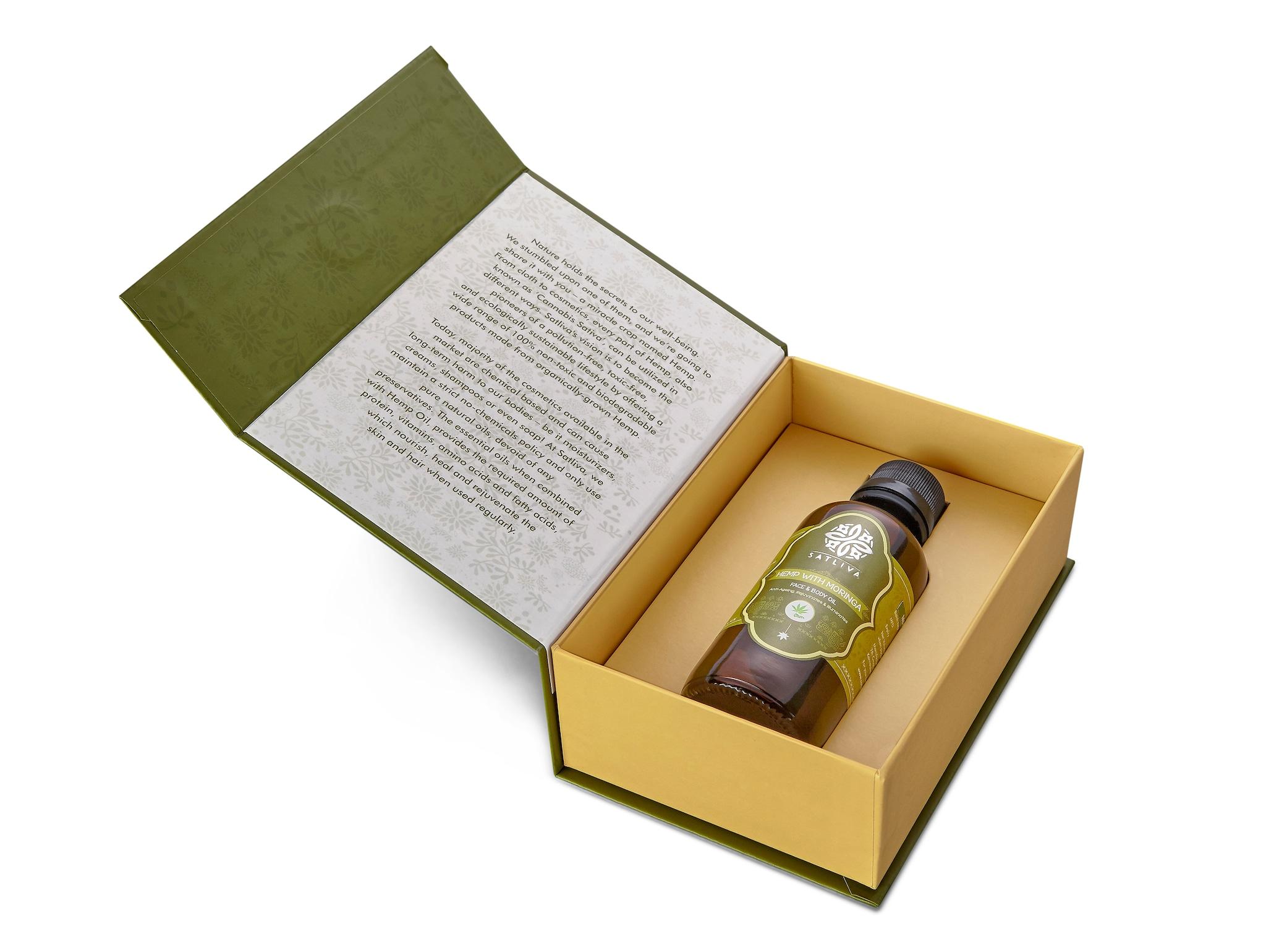 Satliva Hemp With Moringa Body And Face Oil (100ml)