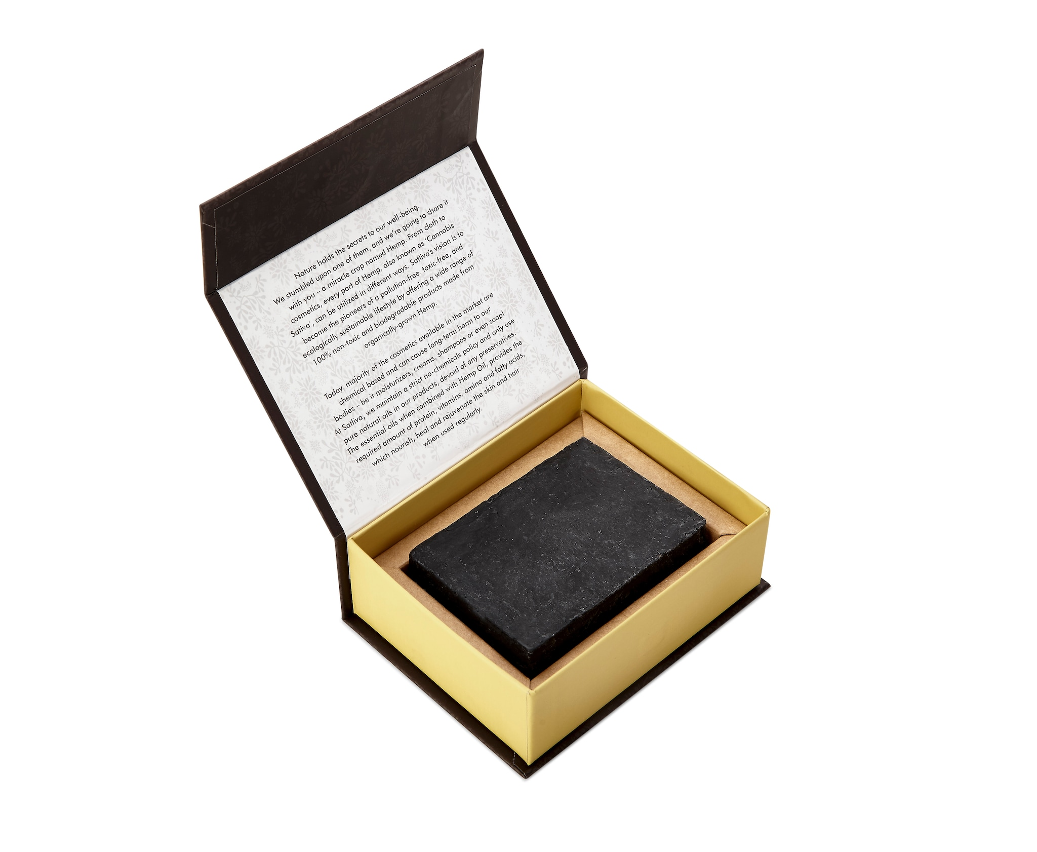 Satliva Hemp With Shea Butter And Activated Charcoal Soap Bar (100g)