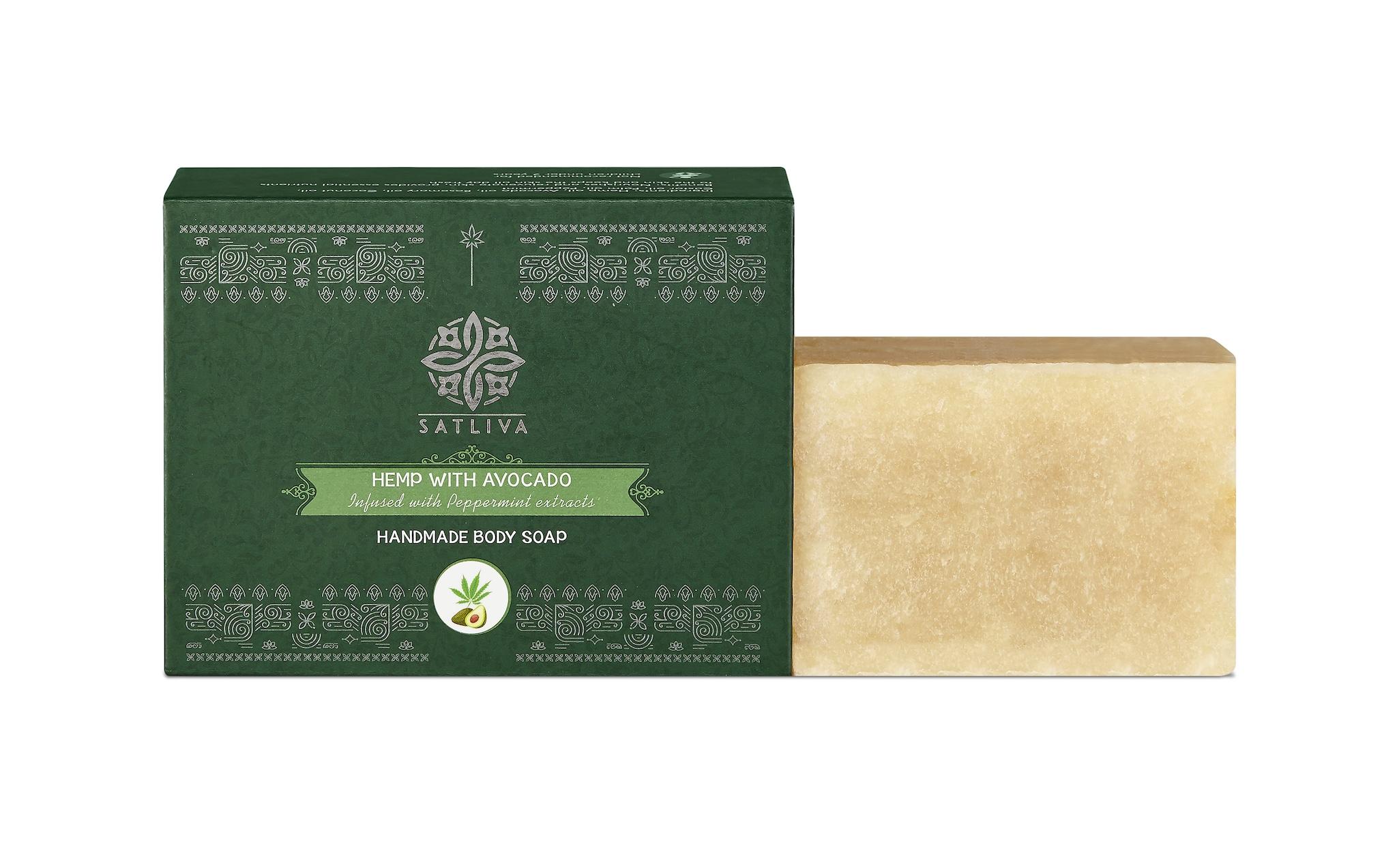 Satliva Hemp With Avocado Soap Bar (100g)