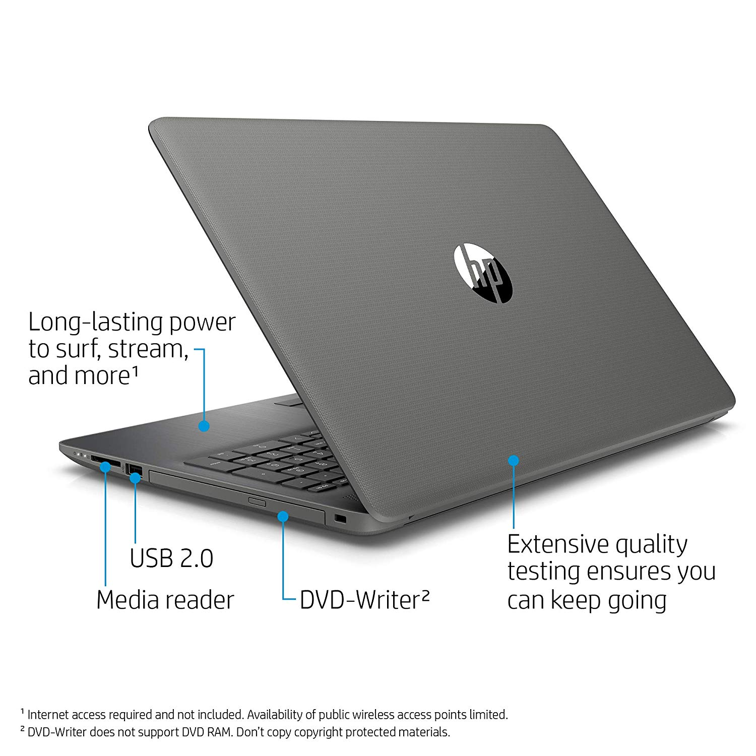 HP 15-da0400tu 15.6-inch Laptop (7th Gen Core I3-7020U/8GB/1TB/Windows 10, Home/HD 620 Graphics), Smoke Gray