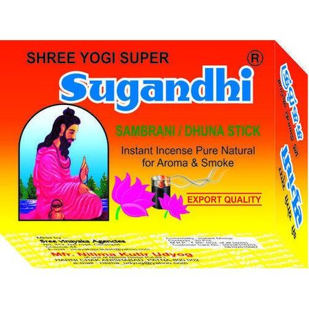 Shree Yogi Super Sugandhi Sambrani Stick -24 Pc - pooja samagri -  Chandramouli Brothers