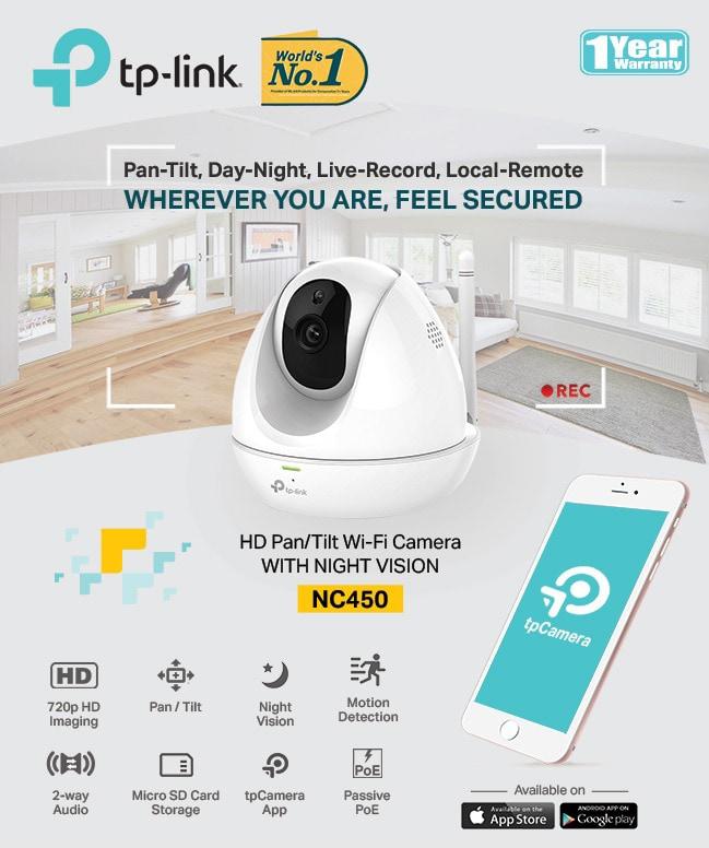 HD Pan/Tilt Wi-Fi Camera WITH NIGHT VISION TL-NC450