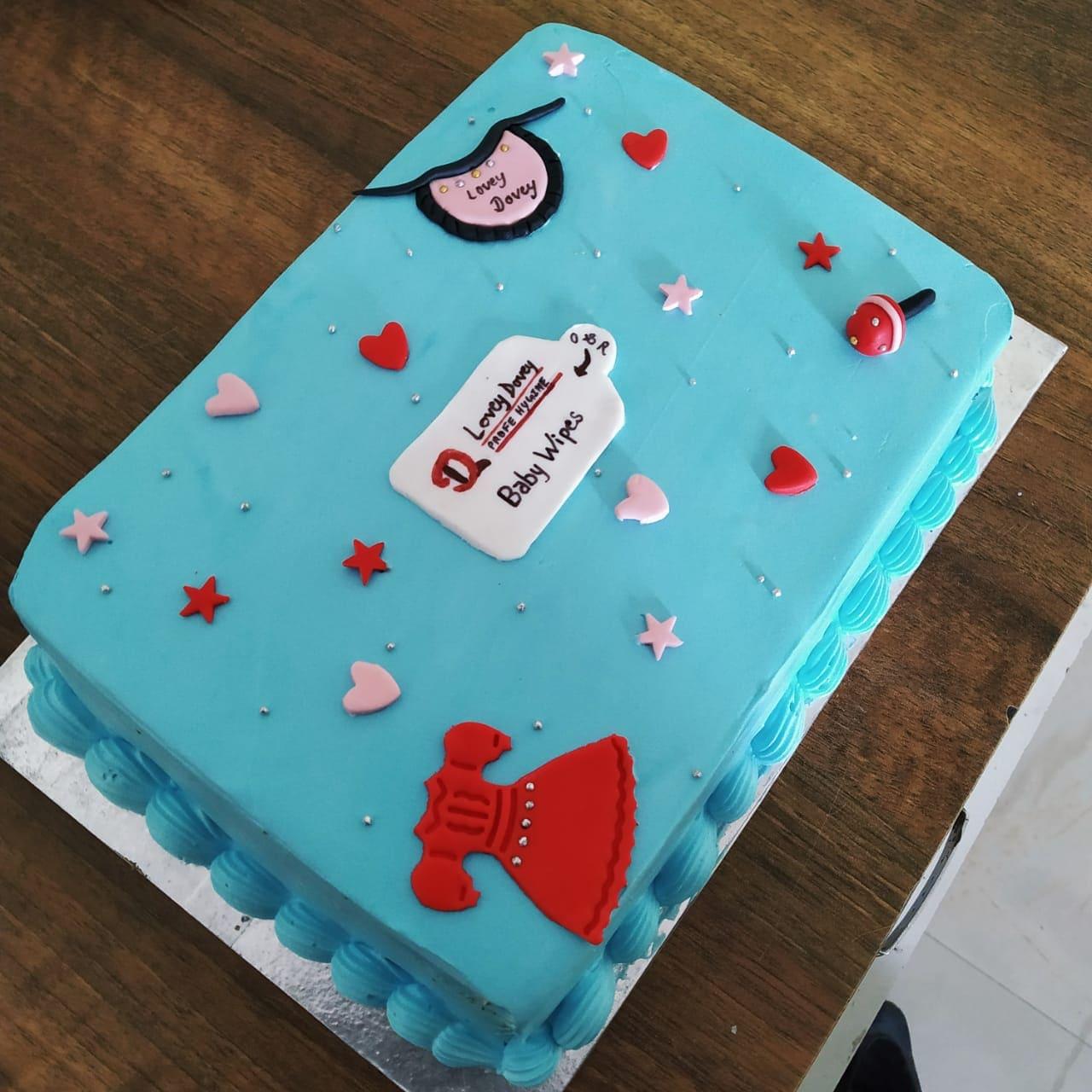 Baby Shower Cake (1 Kg,Chocolate)
