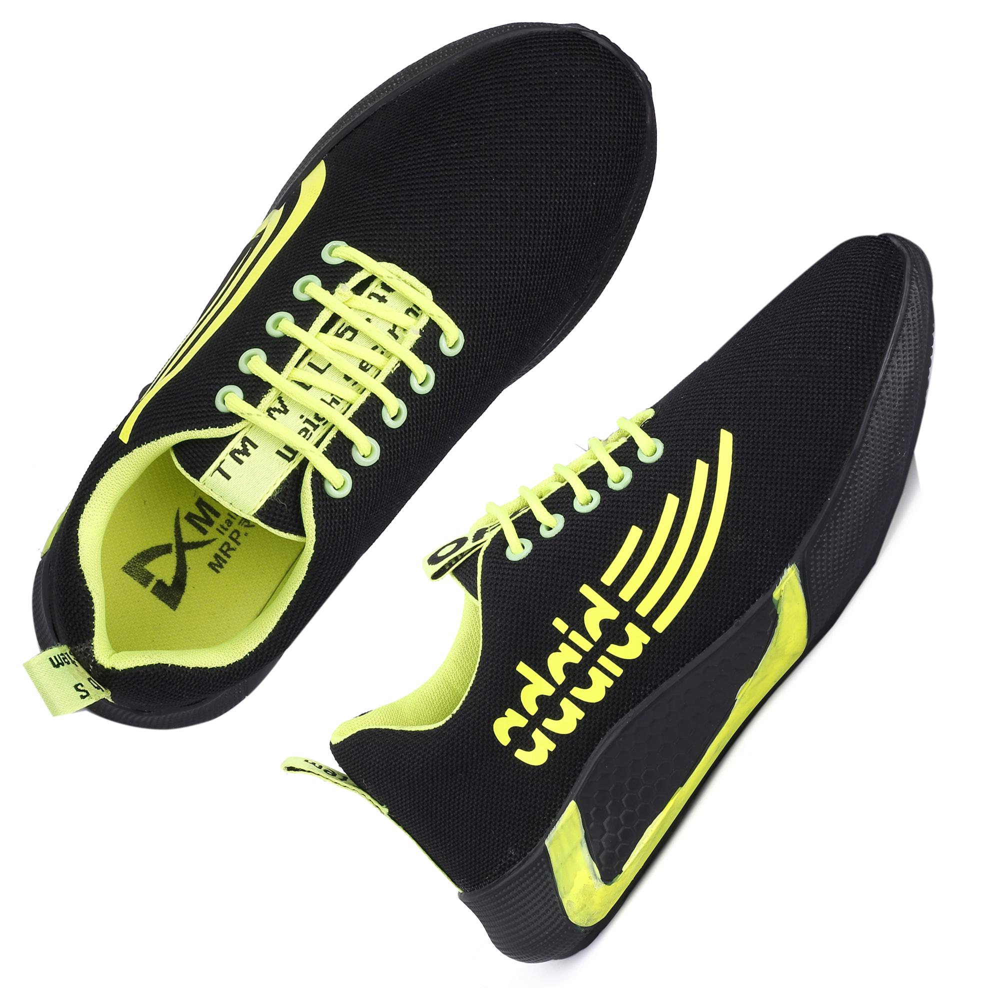 JK Port Original Comfortable & Reliable JKPSB82BLK Sport Shoe In Black Colour (Black, 6-10, 8 PAIR)