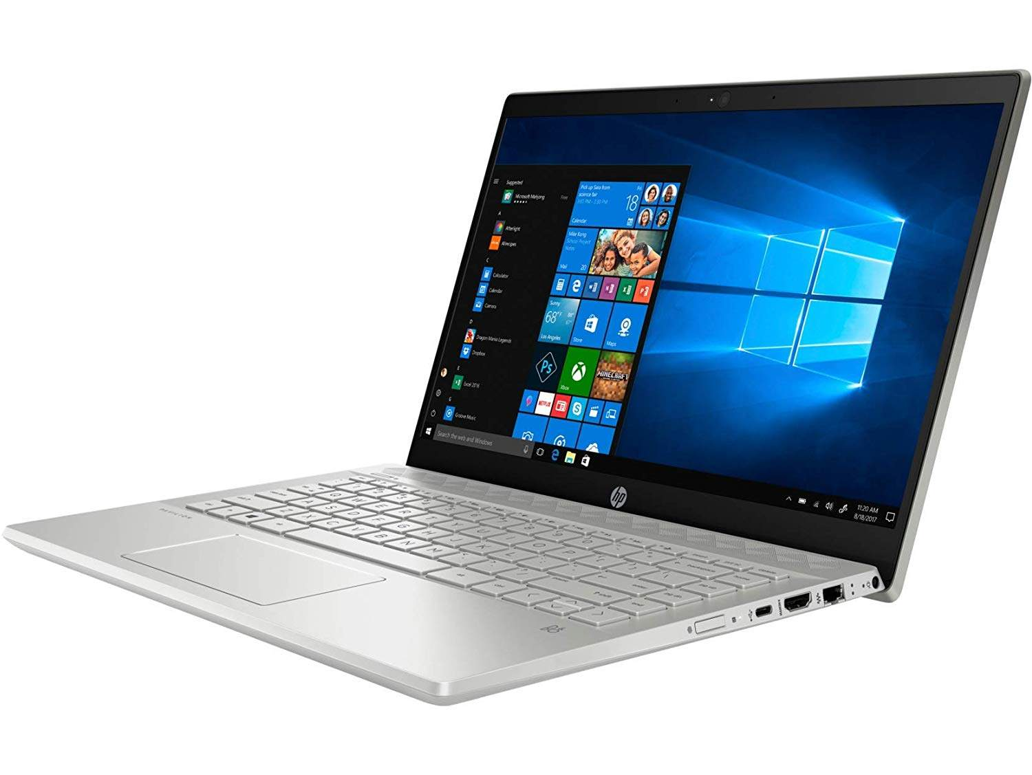 HP Pavilion 14 14-ce3022TX 2019 14-  Laptop (10th Gen Core I5-1035G1/8GB/1TB HDD + 256GB SSD/Windows 10, Home/2GB Graphics), Mineral Silver