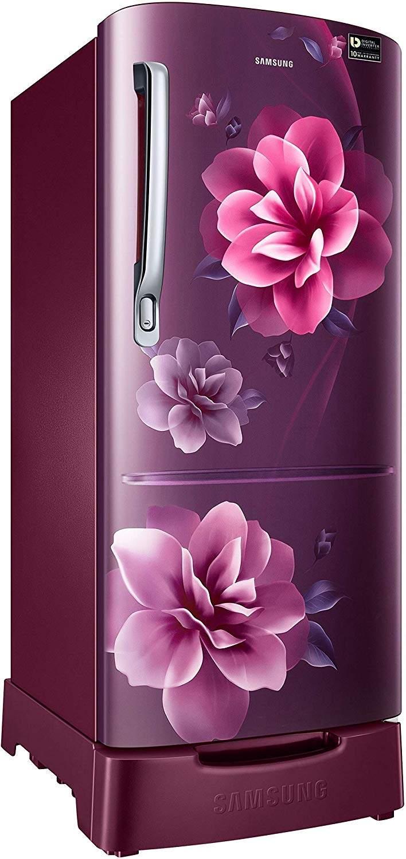 Samsung 192 L 4 Star Direct-Cool Single-door Refrigerator (RR20R182YCR/HL, Camellia Red)