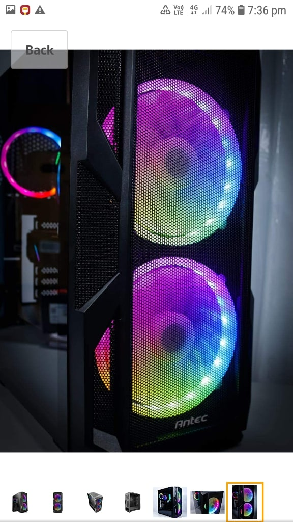 Antec NX 800 Mid Tower Gaming Cabinet Support E-ATX, ATX, Micro-ATX, ITX With ARGB Control And 2 X 200mm ARGB Fan In Front & 1 X 120mm  ARGB Fan In Re
