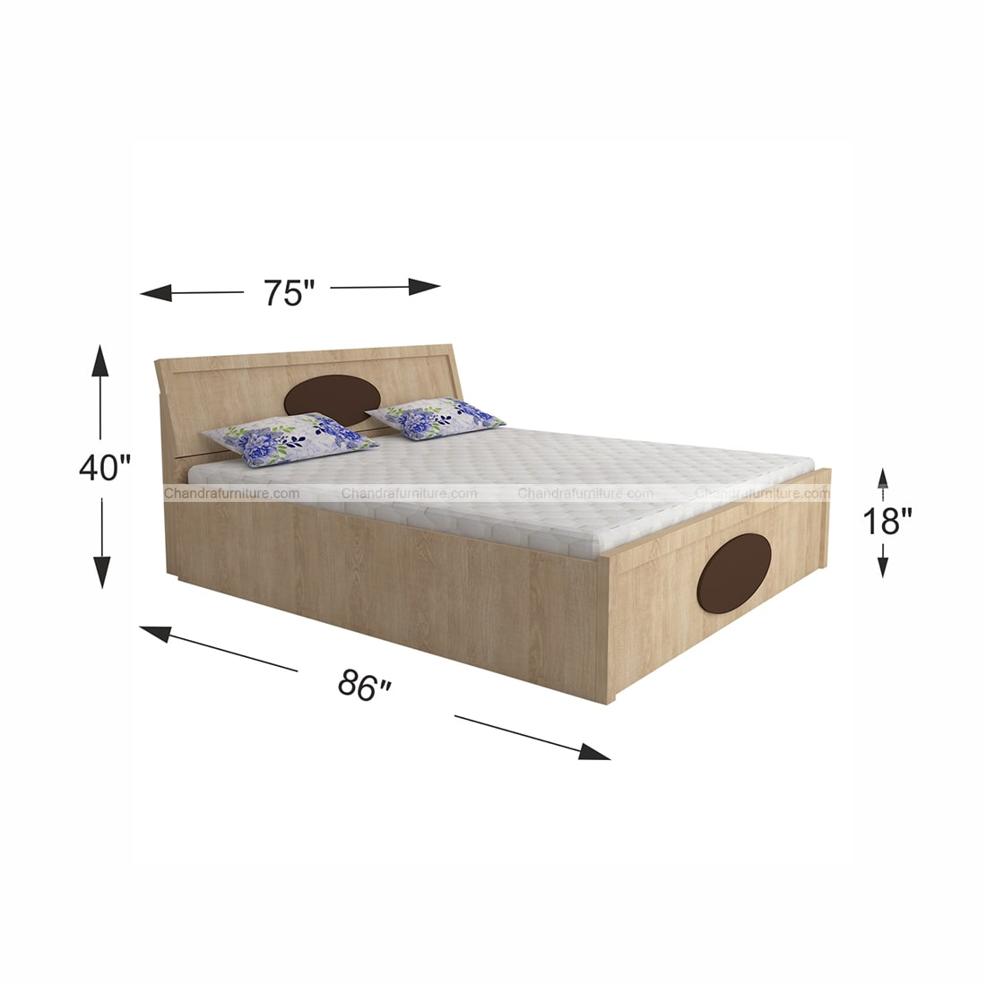 Chandra Furniture King Size Bed - 121 Moon