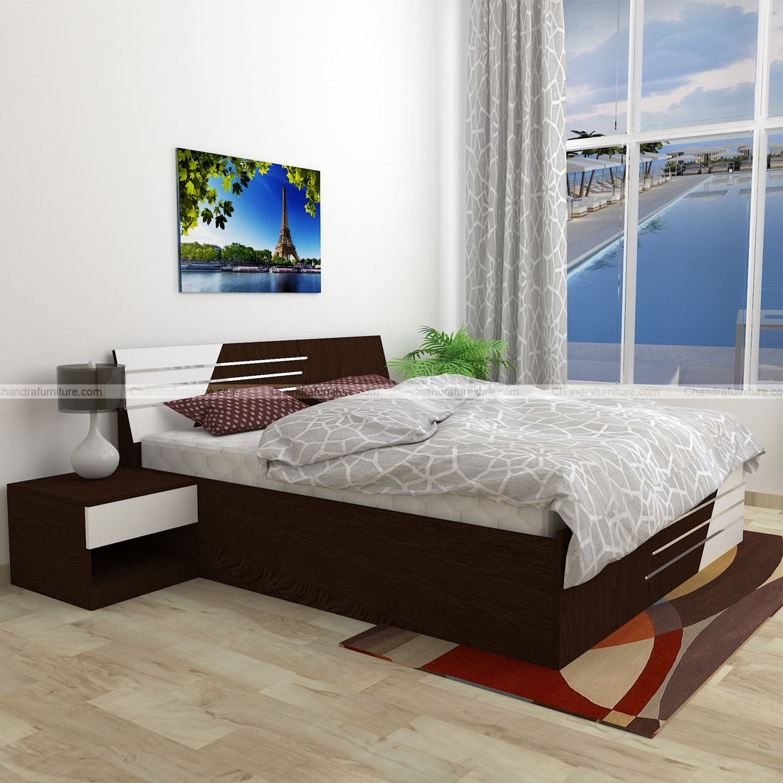 Chandra Furniture King Size Bed - 67 Lam