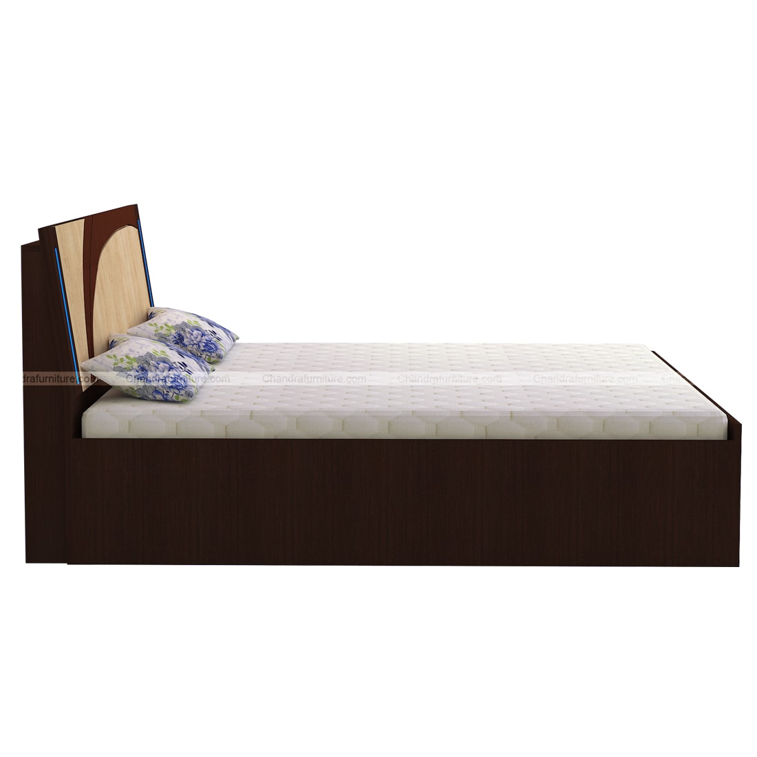 Chandra Furniture King Size Bed - Starlight (Blue Night Light In Bed)