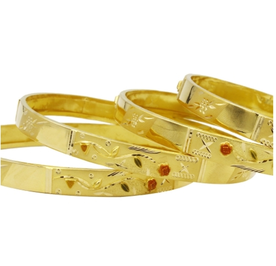 DHRUVI GOLD BANGLE 916/22K