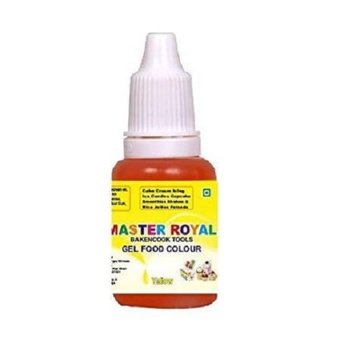 Master Royal BackNCook Tools Gel Food Flavours & Colours Concentrated Edible Gel Food Color (Yellow)