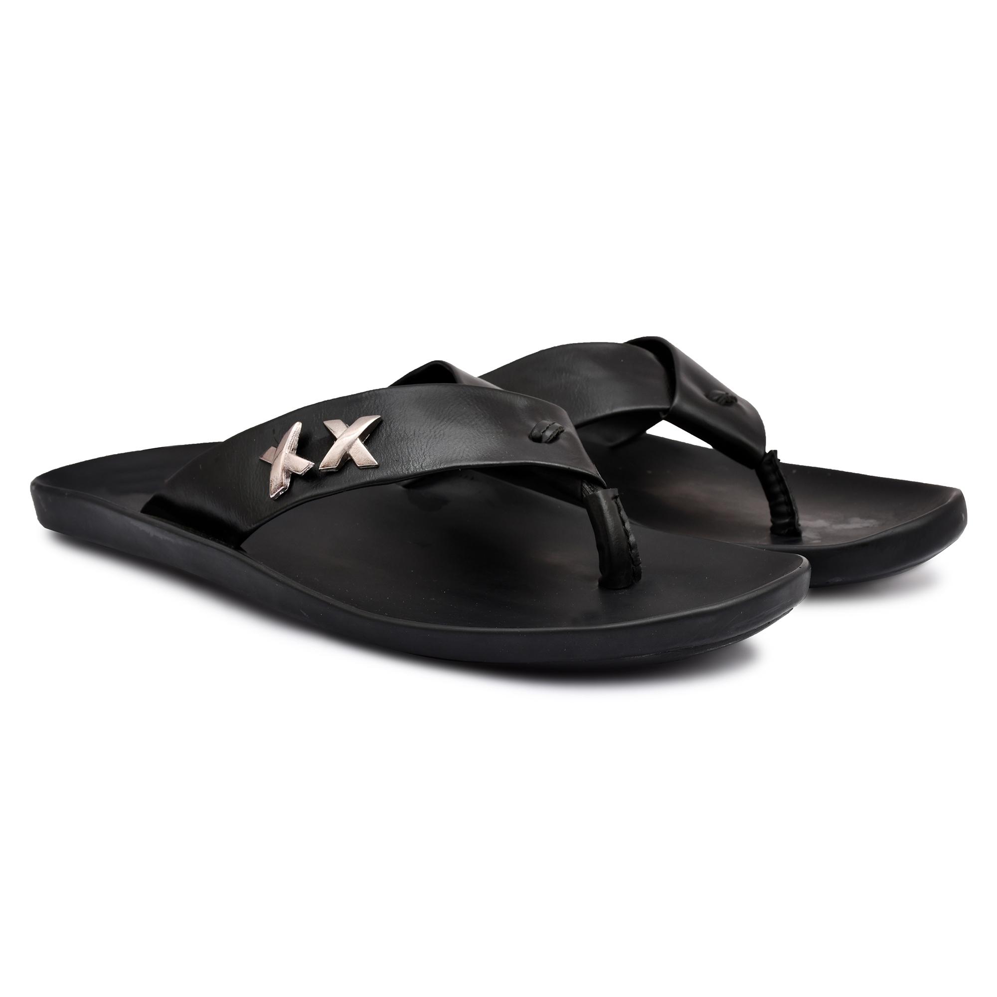 Trendy Stylish Men's Slippers Chappals 97_MALE_CHAPPAL_BLACK_2 (BLACK, 6 to 9, PAIR'S)