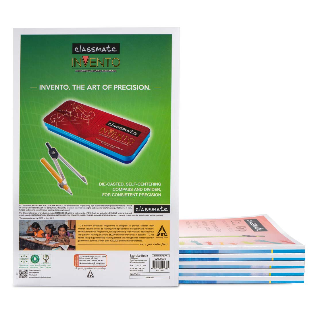 Classmate Long Notebook Rulled160 Pages, Hard Cover