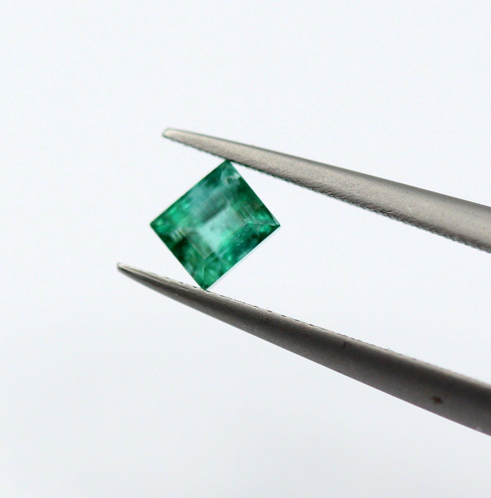 0.36 Ct Emerald Dark Green Color Zambian Princess Cut Natural Gemstone Certified