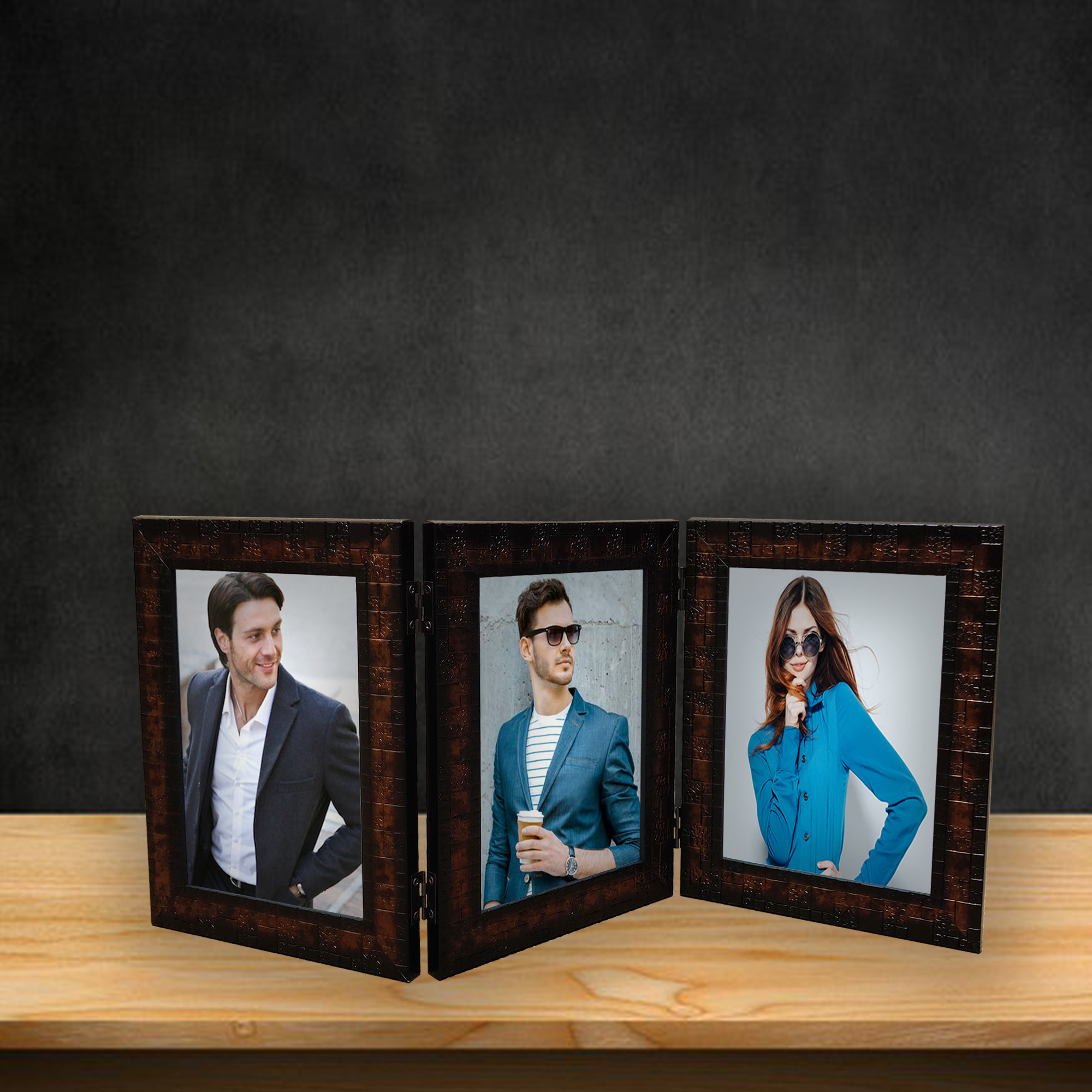 Triple Fold Photo Frame 5/7 Inch BN19 (Without photo)