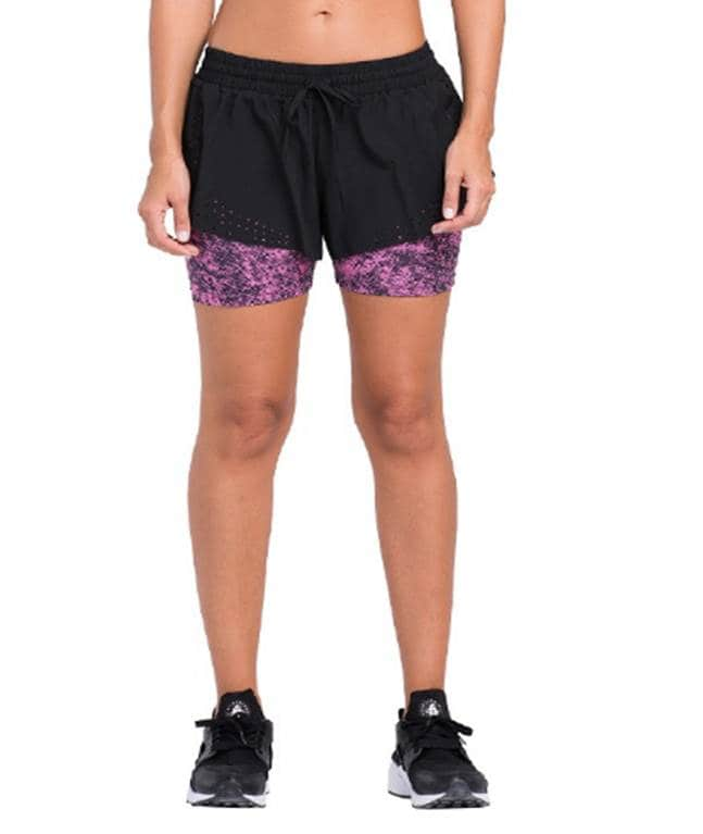 Women's Running Shorts With Tights (L)