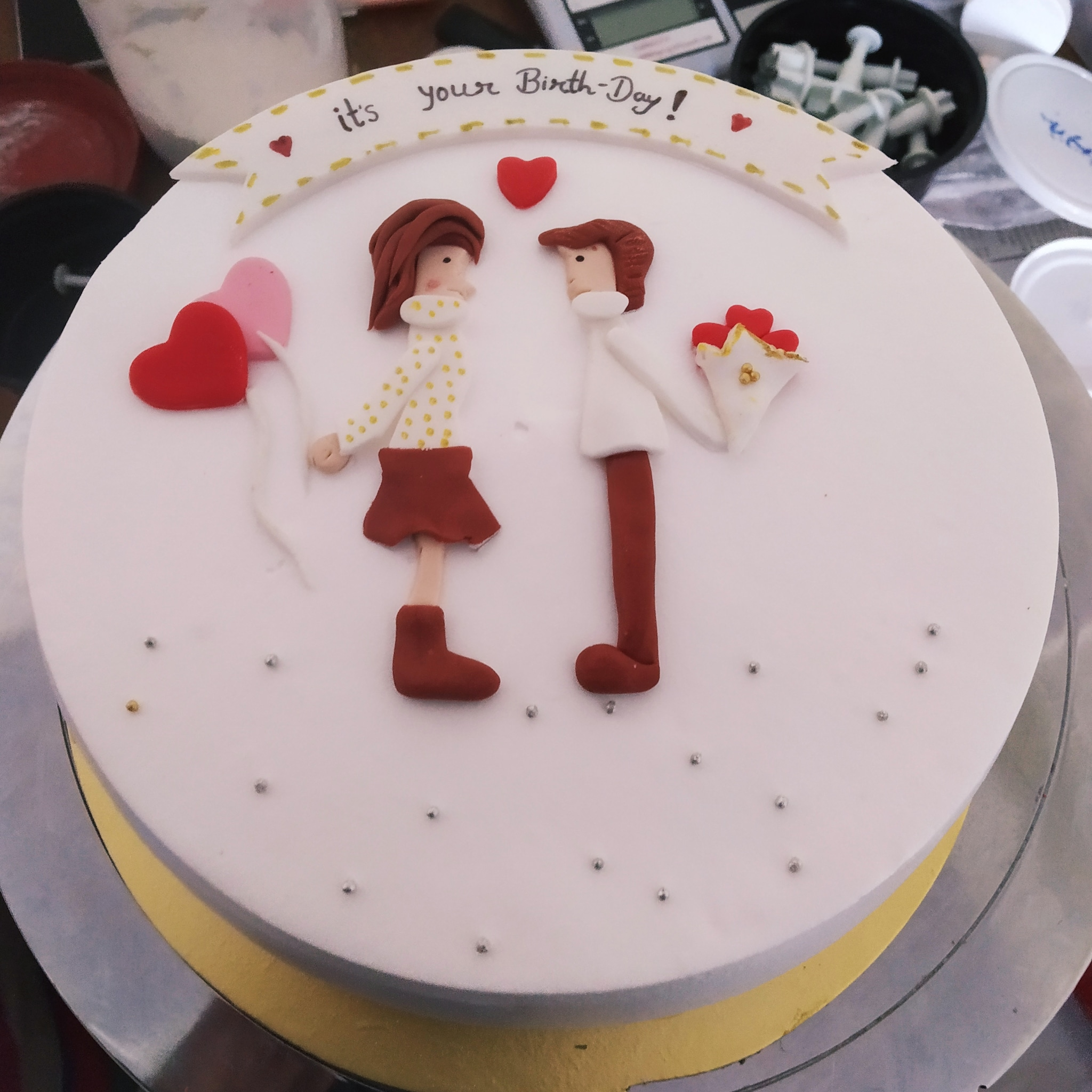 Couple Cake (1 Kg,Chocolate)
