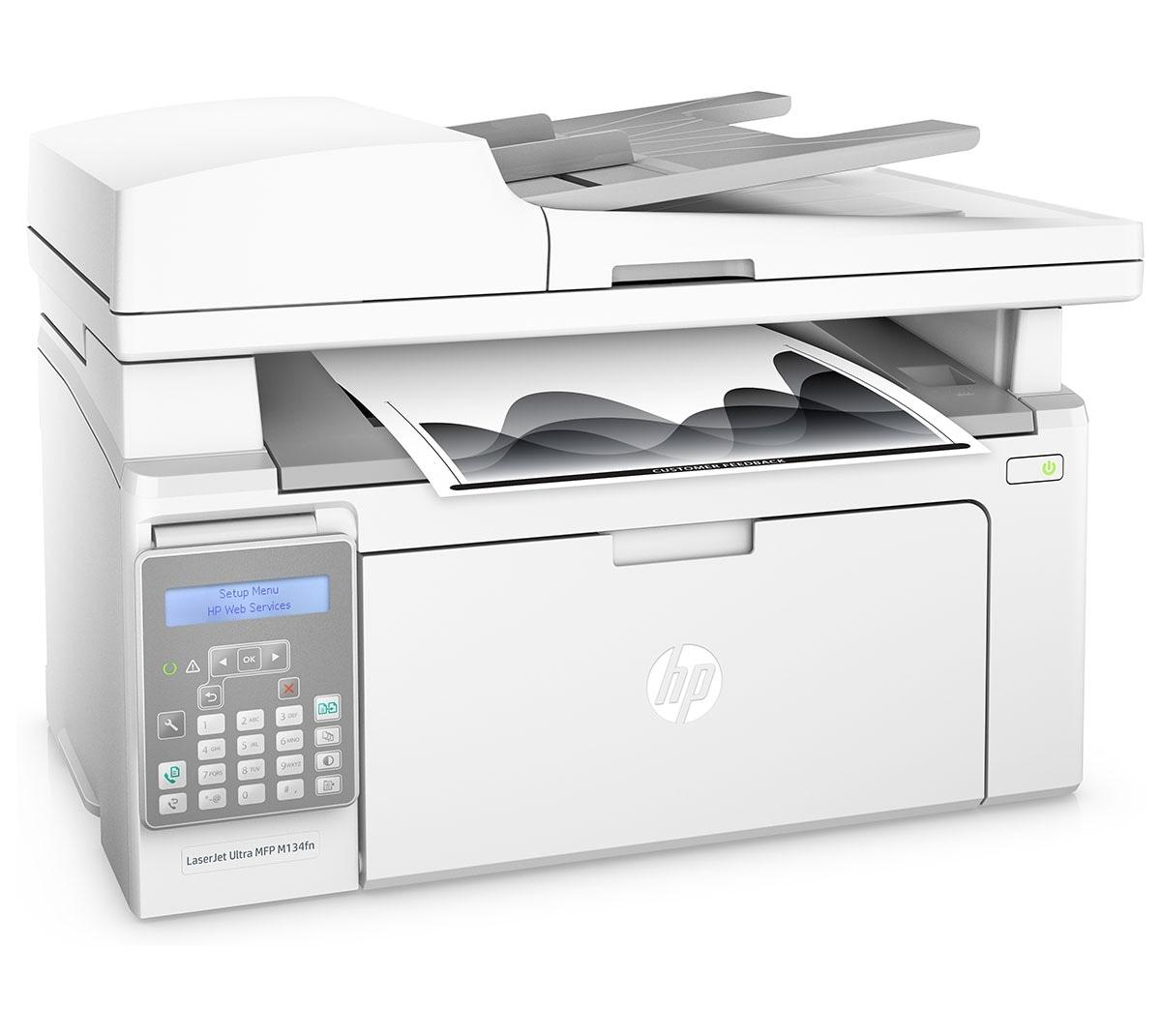 HP G3Q67A LaserJet Ultra MFP M134fn Multi-Function Print Color Laser Printer
