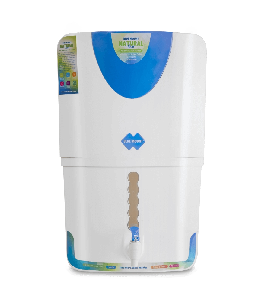 Blue Mount Natural Star 18 Litres RO + UF + Alkaline Water Purifier (White, Blue)