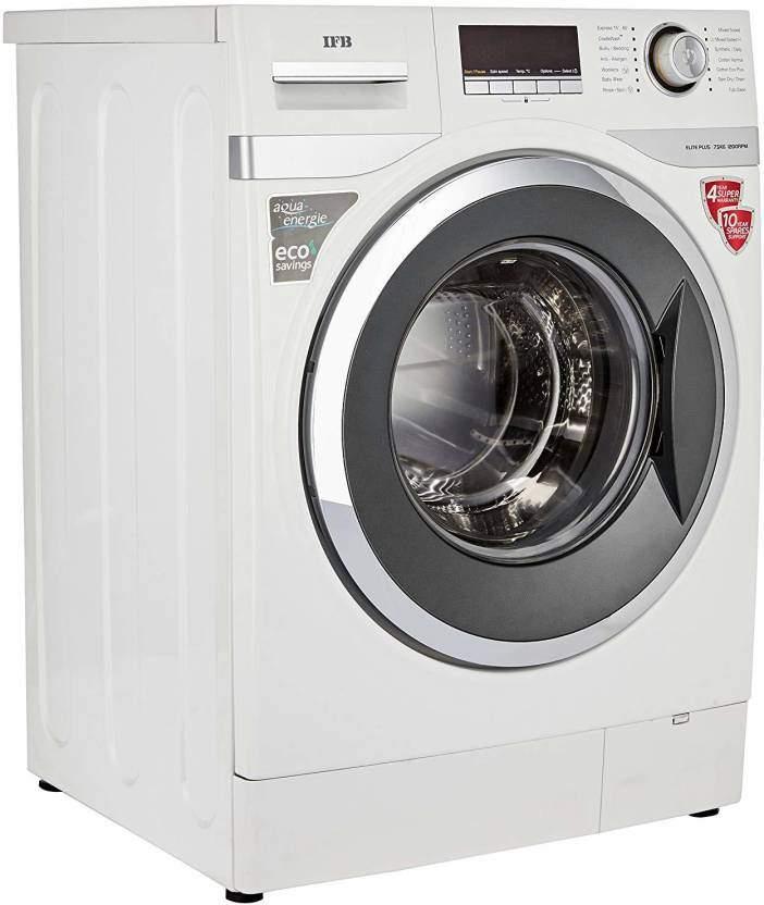 IFB 7.5 Kg Fully Automatic Front Load Washing Machine White (ELITE PLUS SXR)