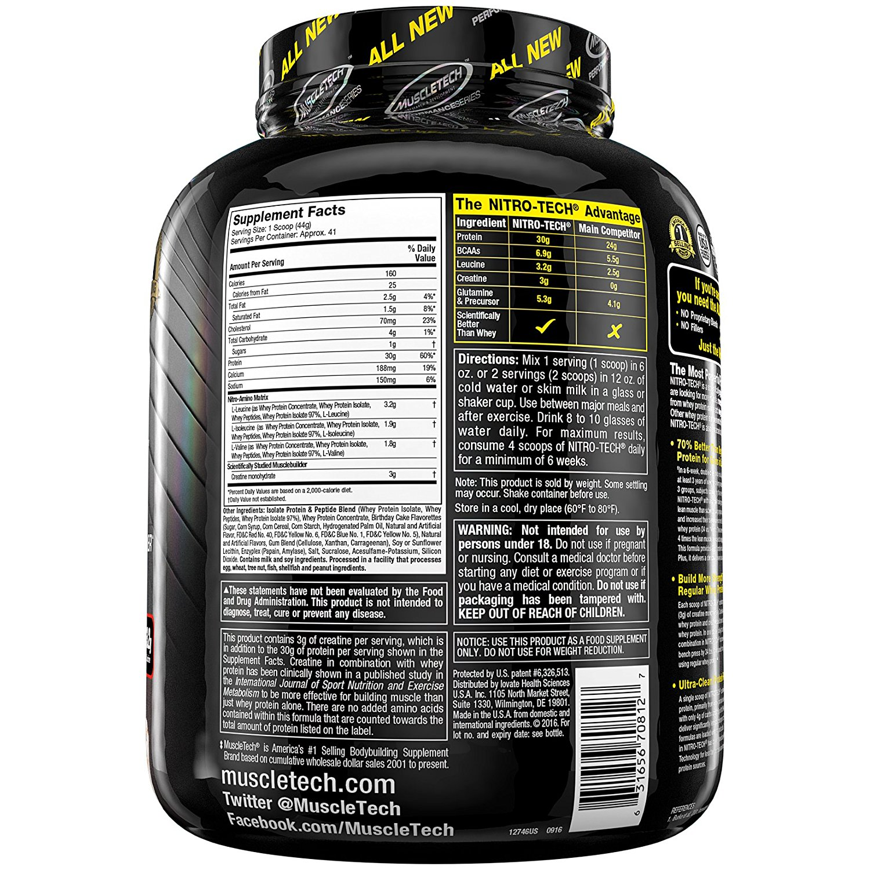 Muscletech Nitrotecch- 3.97lbs(Birthday Cake)