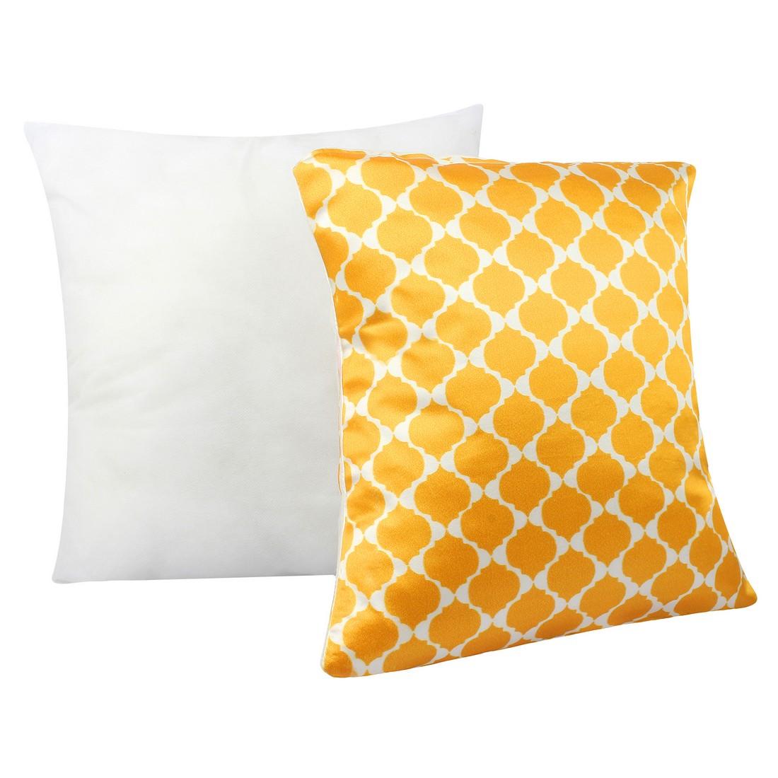 "Sattva Premium Digital Printed Cushion Cover CU01 With Filler Multicolor - Size 12""x12"""