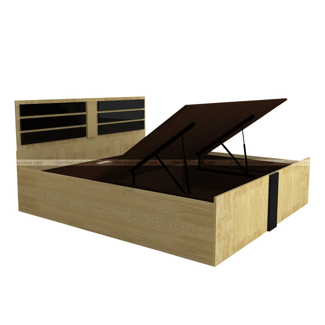 Chandra Furniture King Size Bed - Diamond