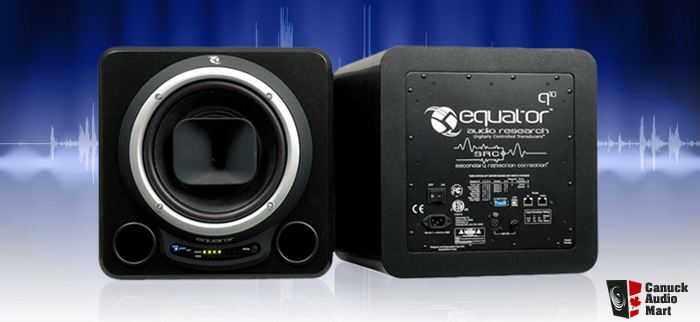 EQUATOR Q10 ACTIVE STUDIO REFERENCE DSP MONITOR PAIR ( USED)