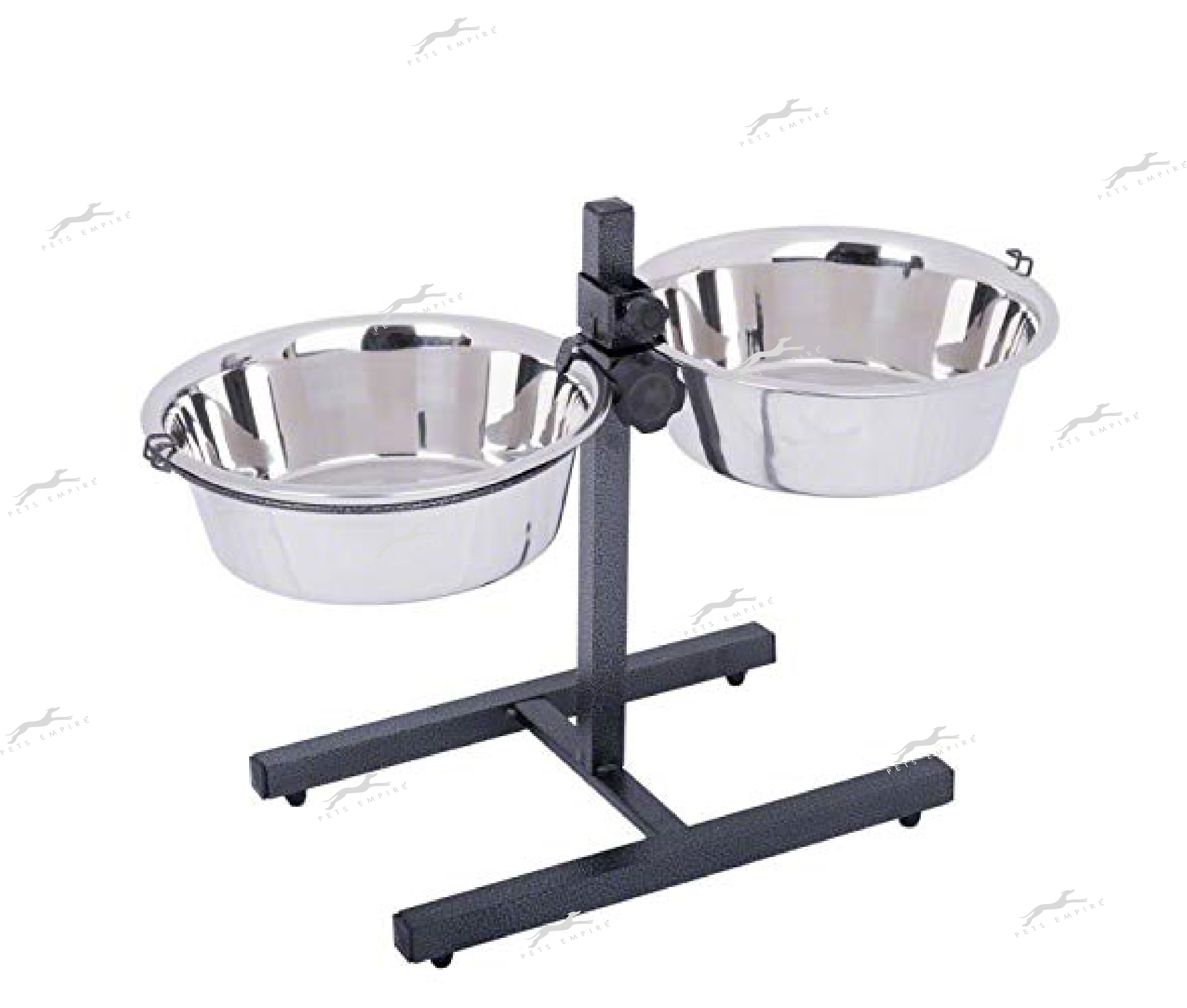 Pets Empire Adjustable Steel Stand With 2 Pieces Bowl For Dogs -900ML.Pack Of 1