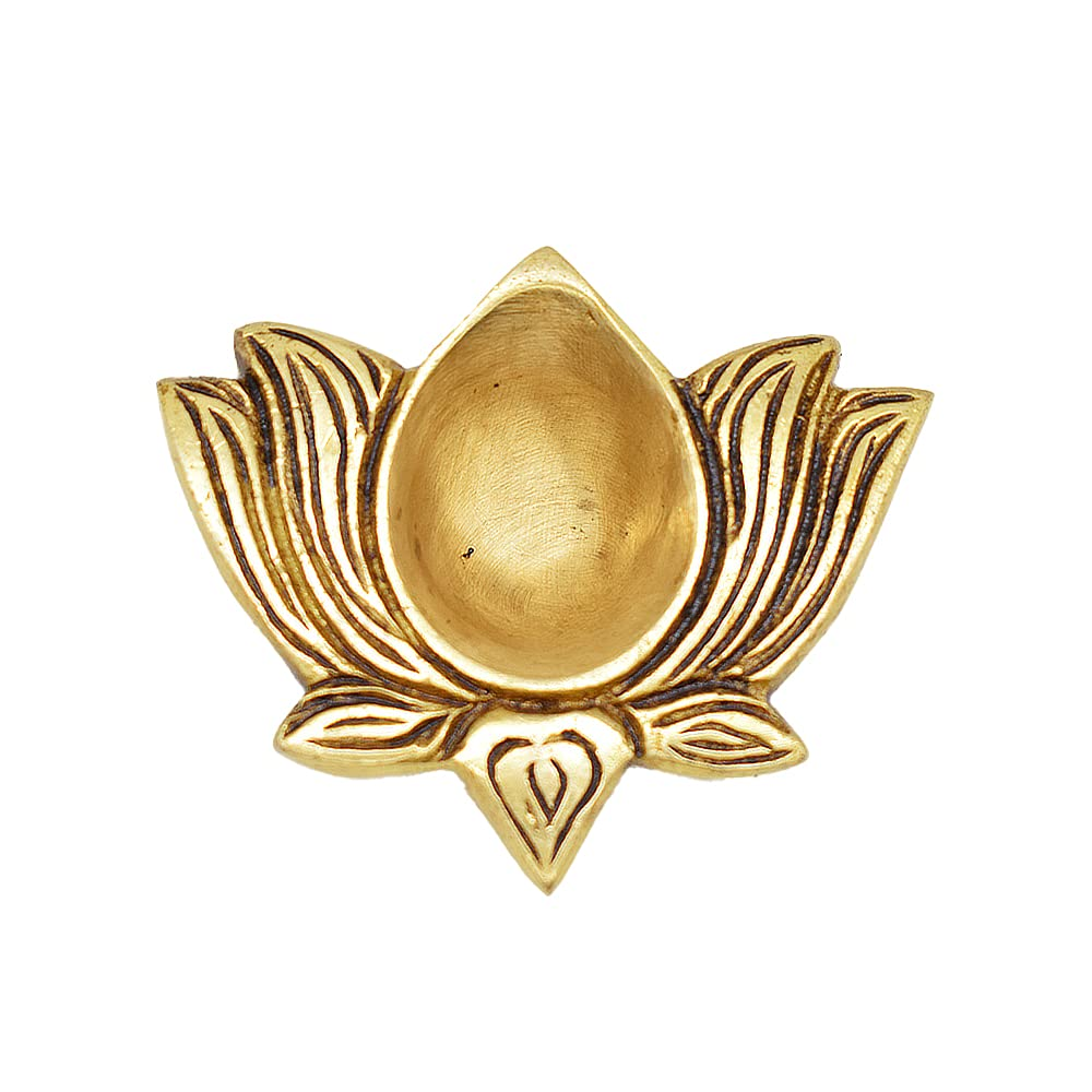 Divine Brass Lotus Agal Diya | For Home Décor |pack Of 1