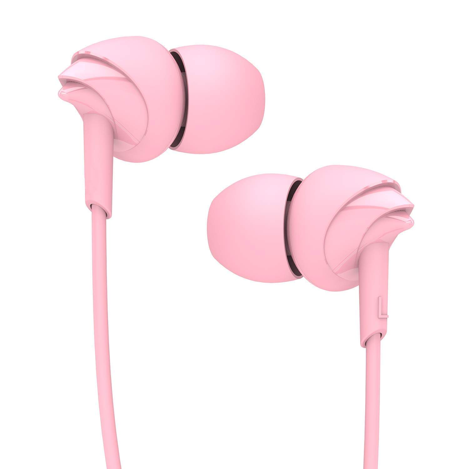 Boat BassHeads 100 Hawk Inspired Earphones With Mic (Taffy Pink)