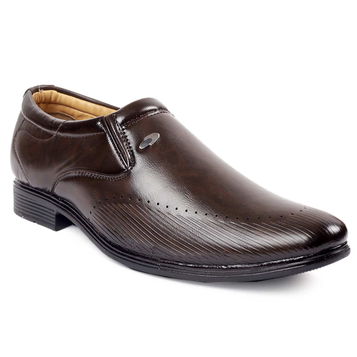 STERA MEN'S PARTYWEAR SYNTHETIC LEATHER MOCASSION FORMAL SHOE.NHT-CAS-4002-BROWN (BROWN, 6-10, 8)