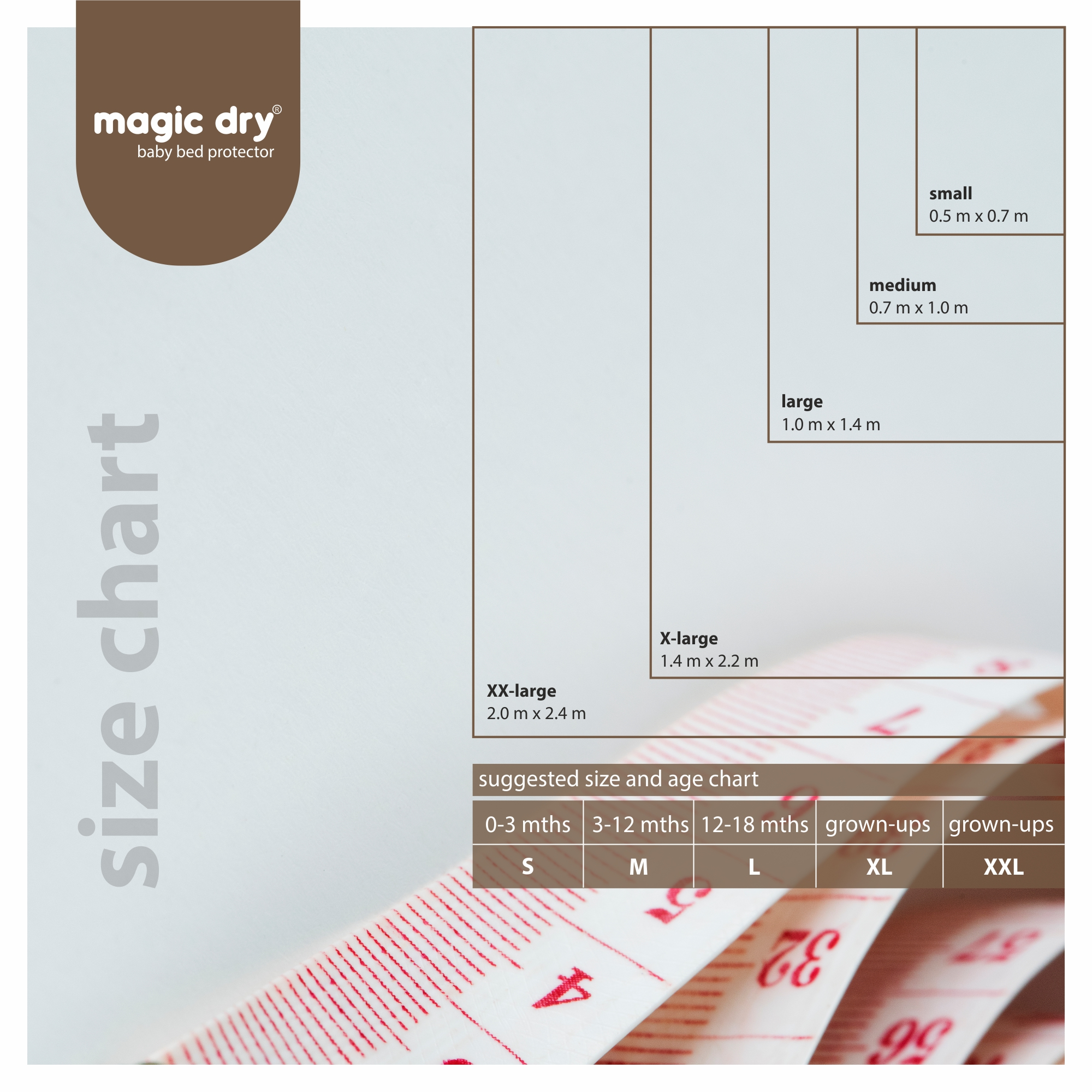 MagicDry Baby Bed Protector (XLarge (140x220cm) Peach)