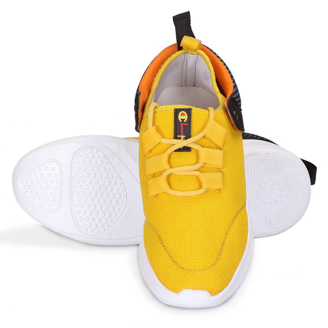 IMCOLUS381A.353_YELLOW FANCY & STYLESH Sports Shoes SHOE FOR MEN'S IMCOLUS381A.353_YLO (YELLOW, 7-10, 4 PAIR)