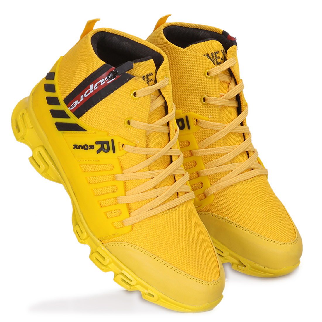 IMCOLUS379A.352_YELLOW FANCY & STYLESH ENGLISH MEDIUM Sports Shoes FOR MEN'S IMCOLUS379A.352_YLO (YELLOW, 7-10, 4 PAIR)