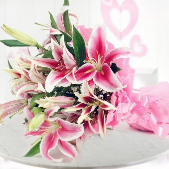 Perky Pink Lilies