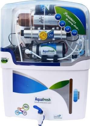 Aquafresh NYC Model RO_UV_UF_TDS_With Copper Filter 12 L RO + UV + UF + TDS Water Purifier(White, Blue)
