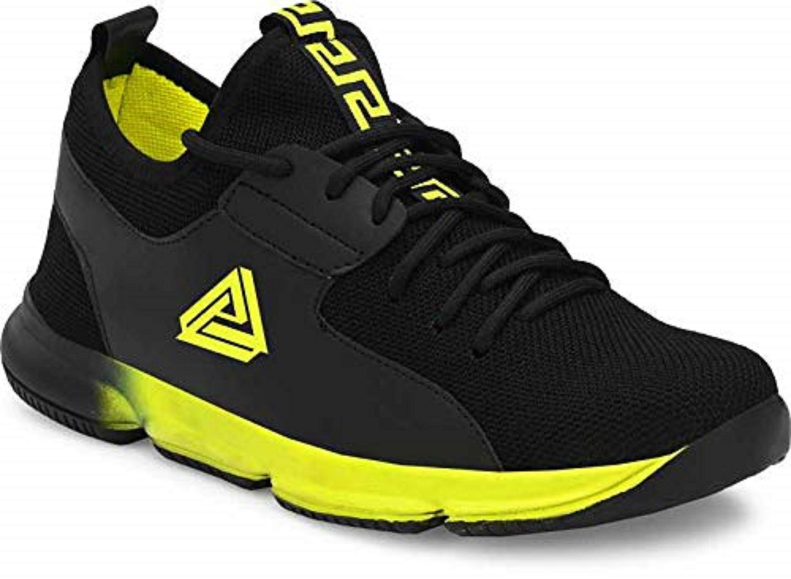 SURAB Present Premium Quality Men's Sports Shoes MSG_077-Green (Green, 6-9, 4 PAIR)
