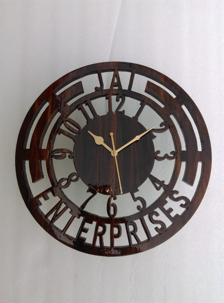 Customised Wooden Wall Clock