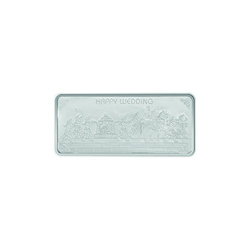 Maa Silver Happy Wedding 10gm Fine Silver Bar With 999 Purity