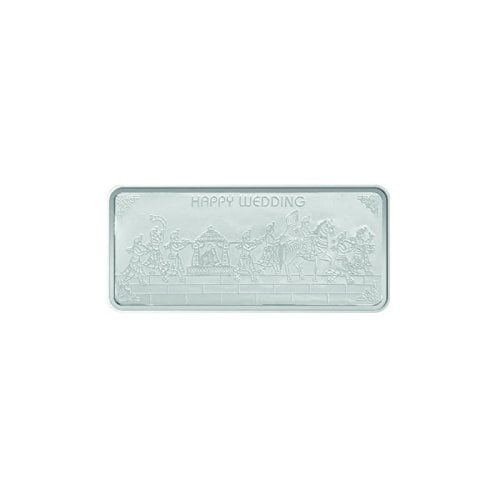 Maa Silver Happy Wedding 50gm Fine Silver Bar With 999 Purity