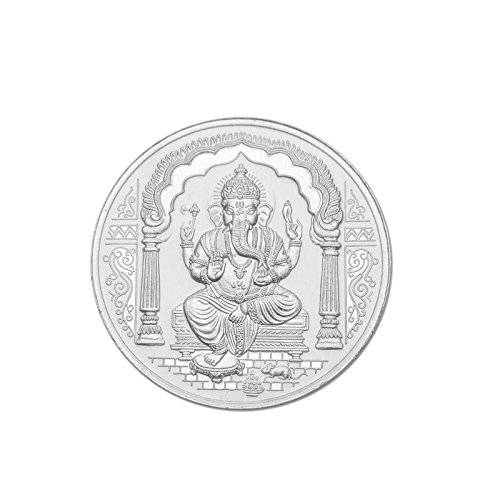 Maa Silver 50gm Ganesh Silver Coin 999 Purity