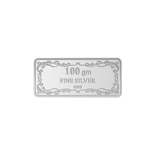 Maa Silver Happy Anniversary 100gm Fine Silver Bar With 999 Purity