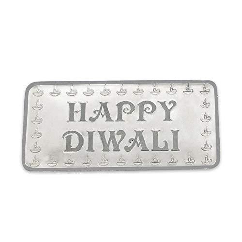 Maa Silver Happy Diwali 5gm Fine Silver Bar With 999 Purity
