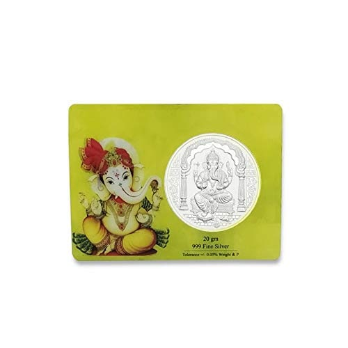 Maa Silver Ganesh Silver Coin 20gm With 999 Purity