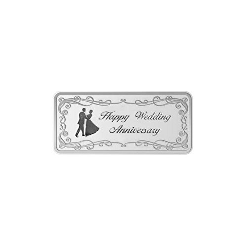 Maa Silver Happy Anniversary 50gm Fine Silver Bar With 999 Purity